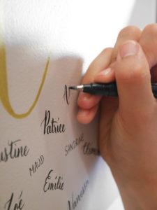 Fresque calligraphique Deedee Paris