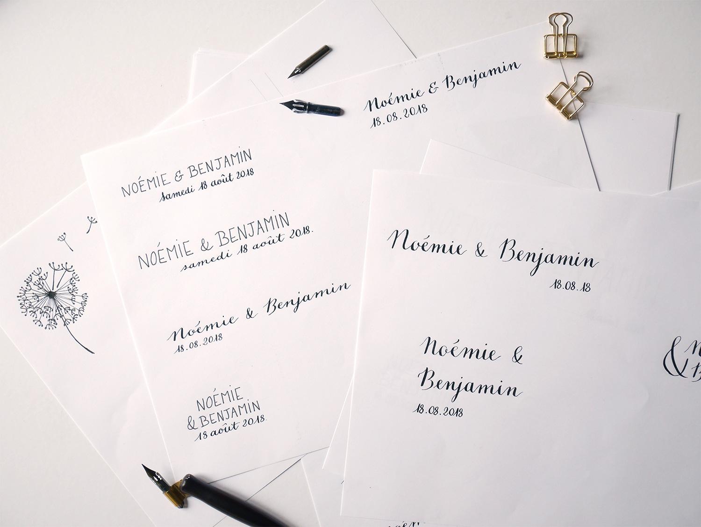 Logo de mariage – Calligraphique