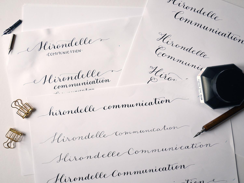 Hirondelle Communication – Calligraphique