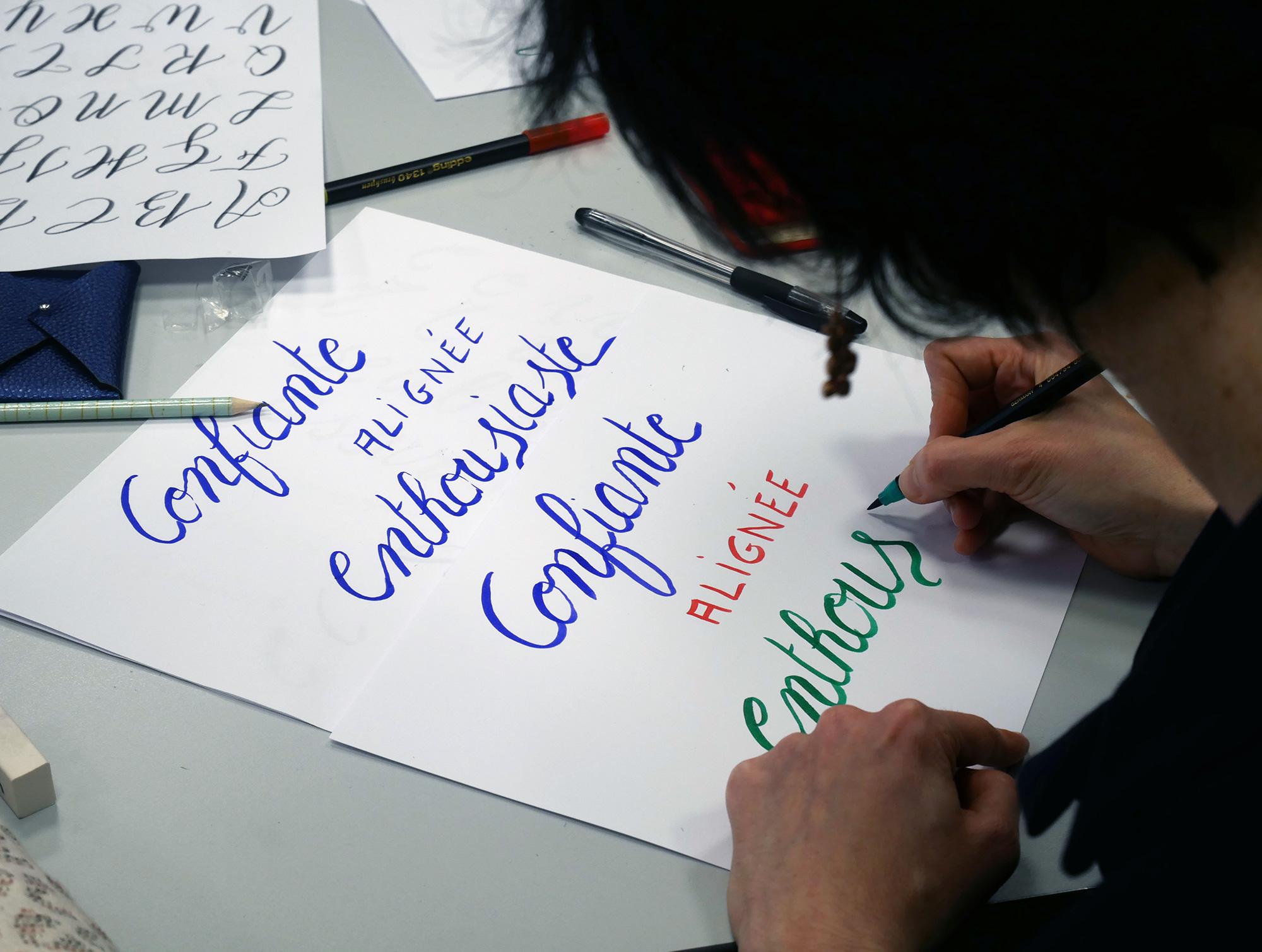 atelier calligraphie HEC Au féminin – Calligraphique