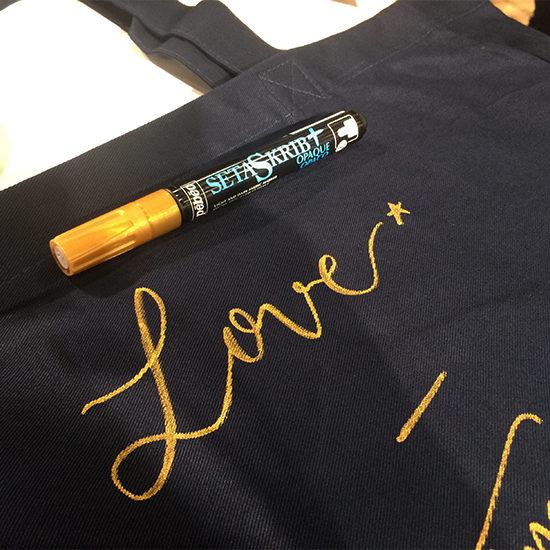 La Petite Etoile calligraphie tote bag - calligraphique