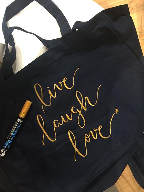 La Petite Etoile calligraphie tote bag – calligraphique