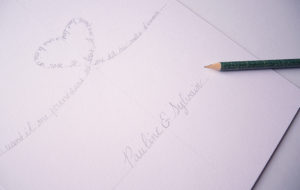 Carte saint-valentin calligraphie - calligraphique