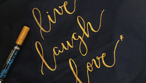 atelier-textile brush lettering