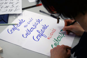 affiche calligraphie calligraphique