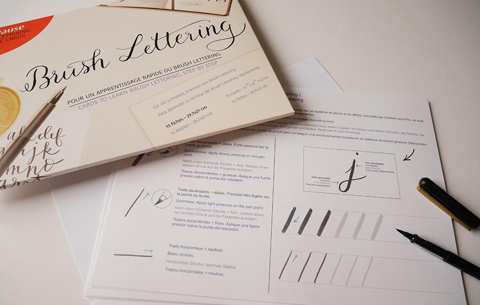 apprendre brush lettering Brause – Caligraphique