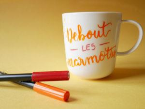 Initiation brush lettering My Little Box BGV Calligraphique