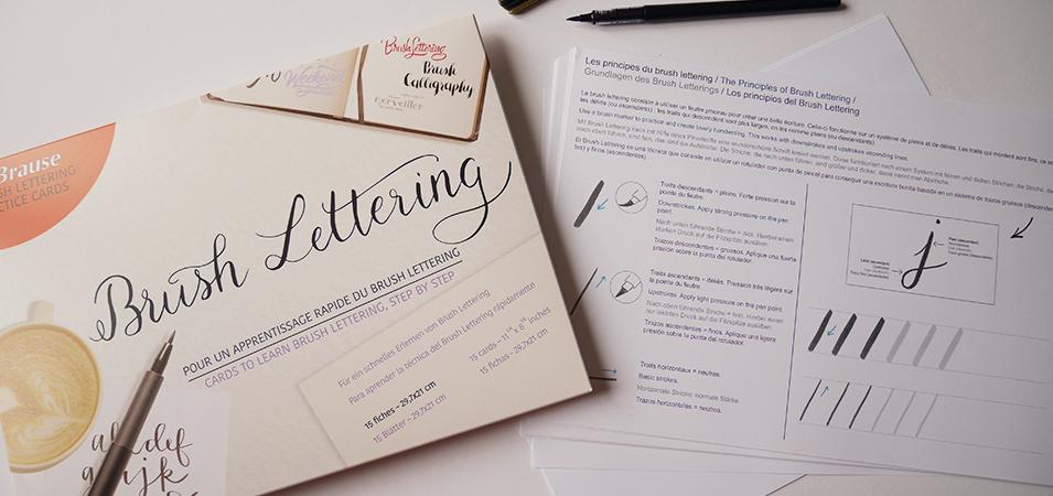 apprendre brush lettering Brause - Caligraphique