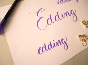 test brush pen - brush lettering - calligraphique