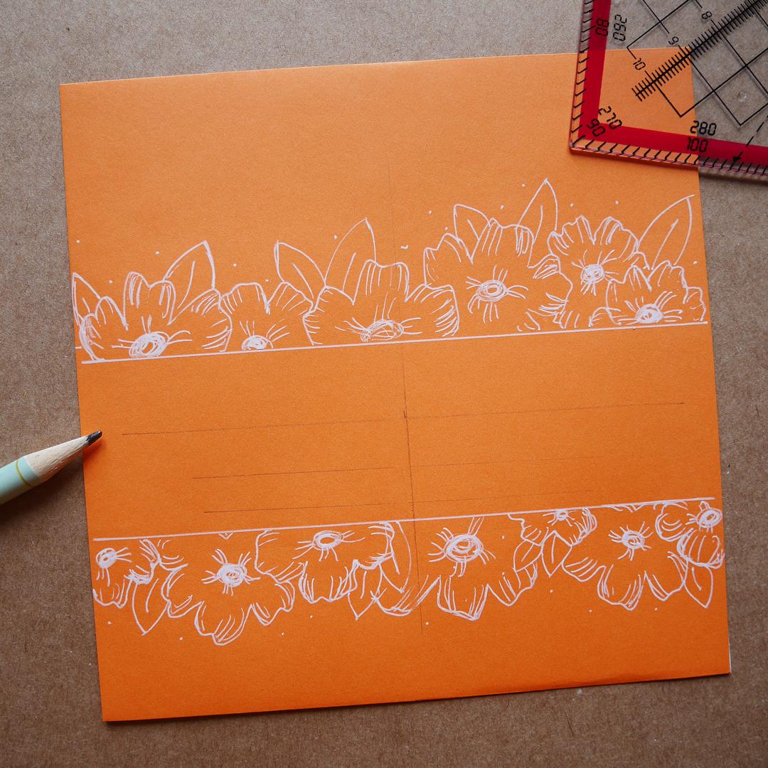 mini tuto enveloppe personnalisée calligraphique