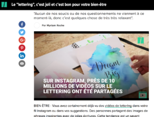 Lettering HuffPost interview