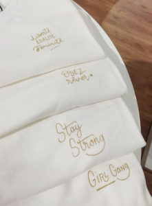 calligraphie personnalisation textile La petite Etoile