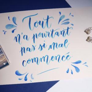 Citation calligraphie Robert Laffont