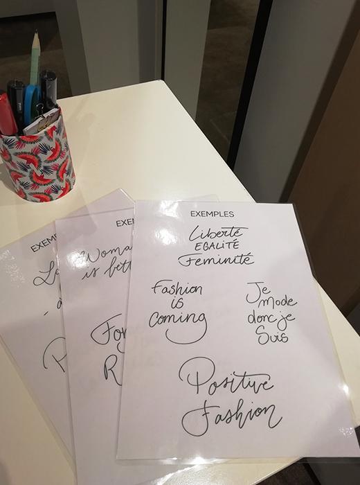 Calligraphie totebags Printemps calligraphique