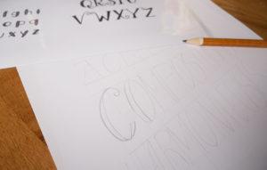 L'astuce pour réussir vos compositions en lettering à tous les coups - Calligraphique