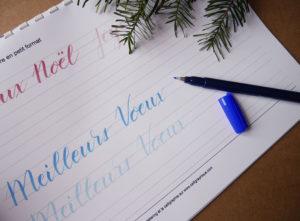 apprendre le brush lettering - entraînement - calligraphique