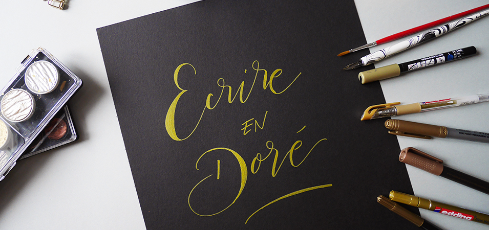 calligraphie doré métallisé - calligraphique