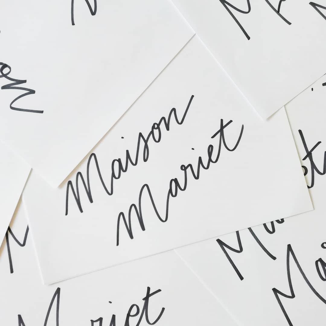 maison mariet – calligraphique