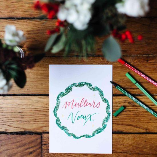atelier calligraphie brush lettering Noël - calligraphique