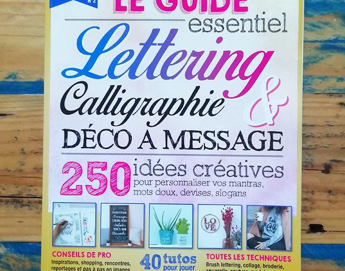 atelier des nanas hors série Lettering et calligraphie