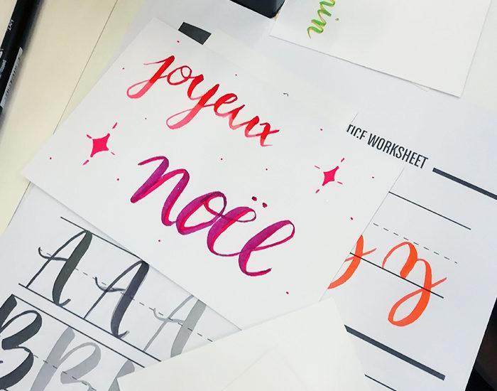 Atelier brush lettering salon créations et savoir faire 2018 CSF