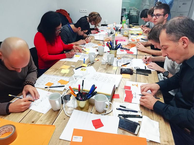 Atelier teambuilding Intersec – Calligraphique