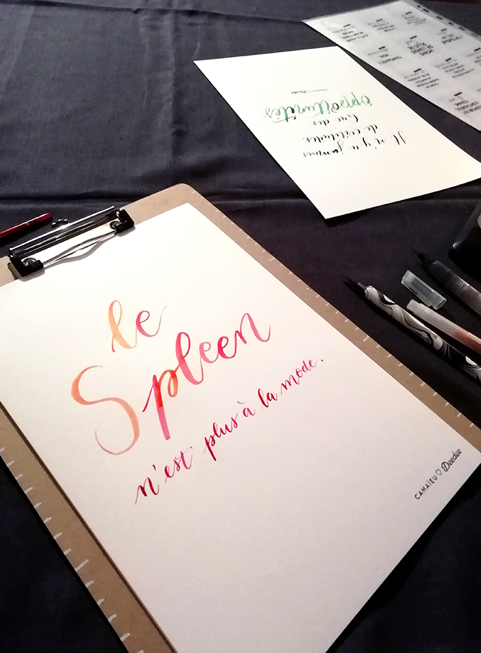 Calligraphie citation Camaïeu Chez Deedee – Calligraphique