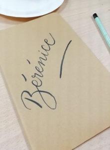 initiation brush lettering carnet - calligraphique