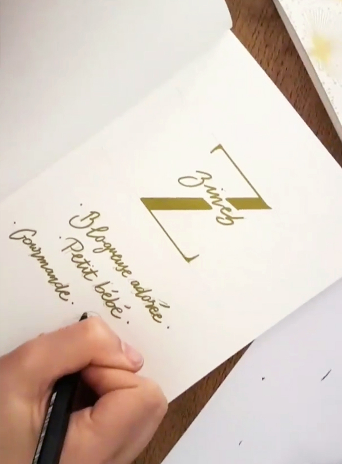 animation calligraphie bijoux LÕU.YETU – calligraphique