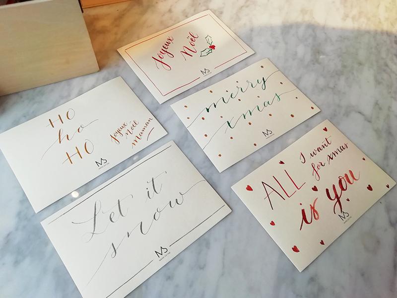 carte voeux Marie Sixtine – Calligraphique
