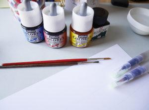 calligraphie au pinceau waterbrush lettering - calligraphique