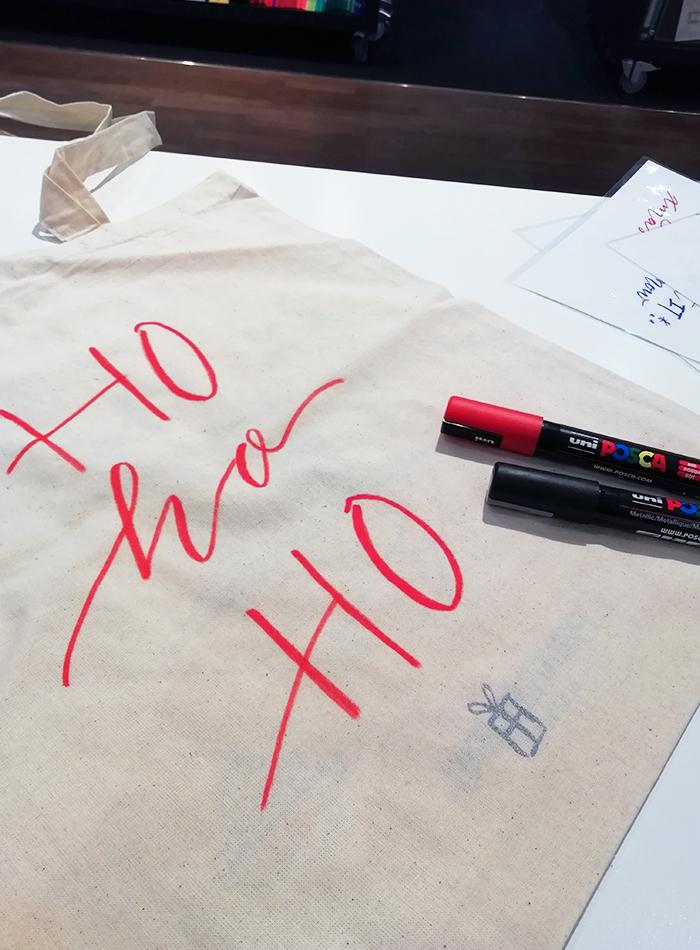 calligraphie totebag Noel Le Printemps – Calligraphique