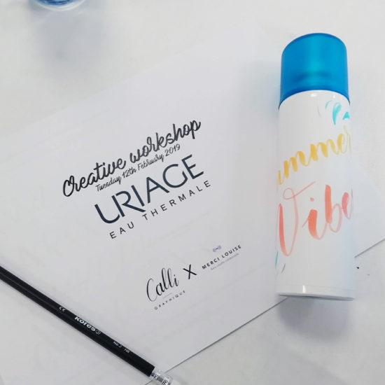 Atelier brush lettering Uriage Calligraphique