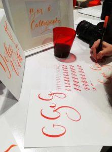 atelier initiation brush lettering calligraphique