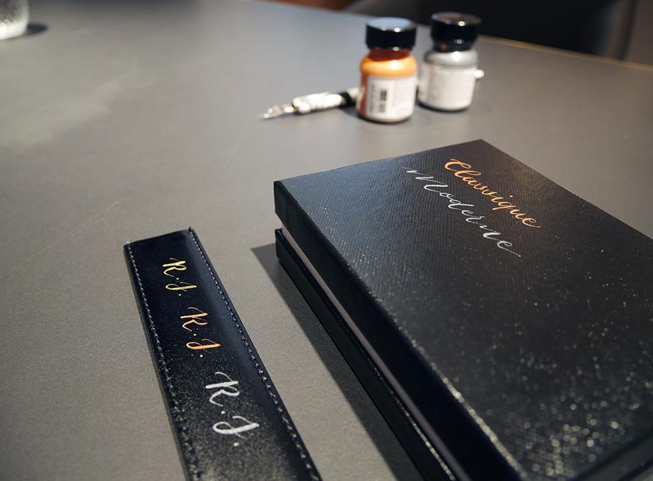 calligraphie cuir MontBlanc – Calligraphique