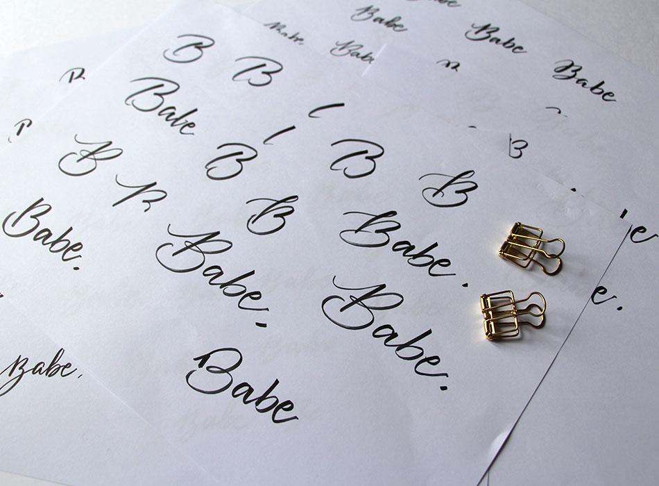 identité graphique Logo Babe is Busy – Calligraphique