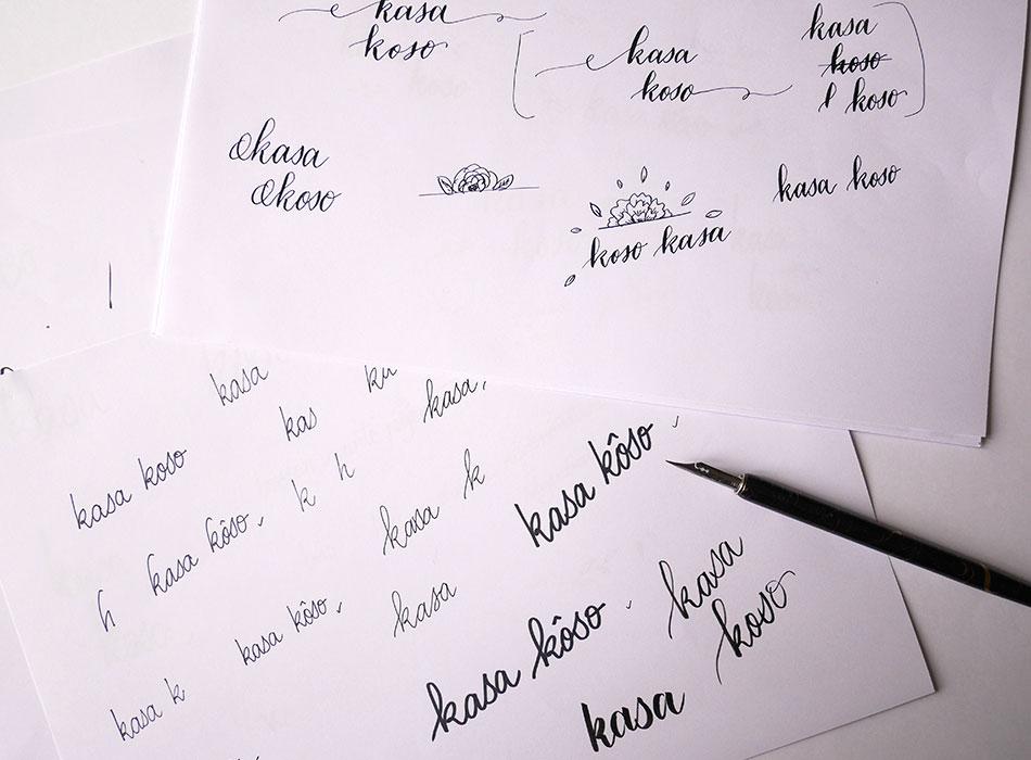 Identité graphique Kasa Kosso – Calligraphique