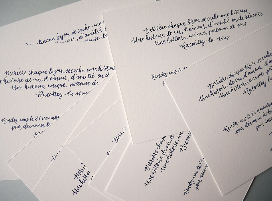 Invitation calligraphiée Gemmyo