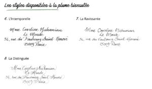style calligraphie calligraphique