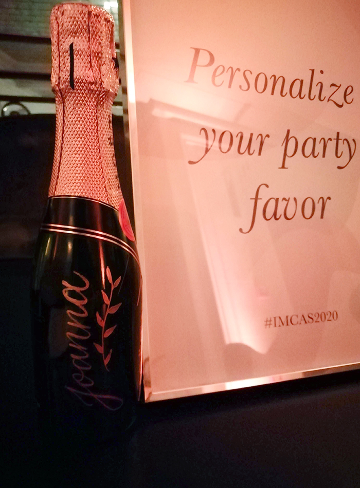 calligraphie personnalisation bouteille champagne