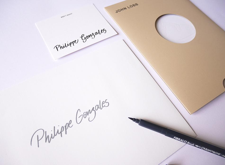 enveloppe invitation calligraphie JohnLobb