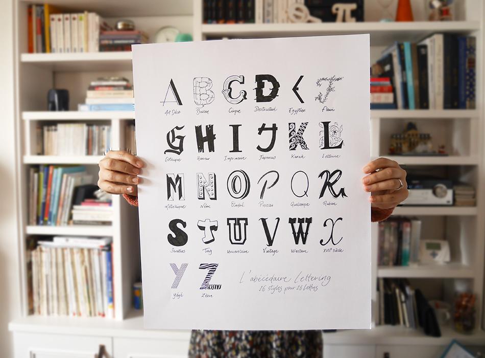 abécédaire lettering calligraphique