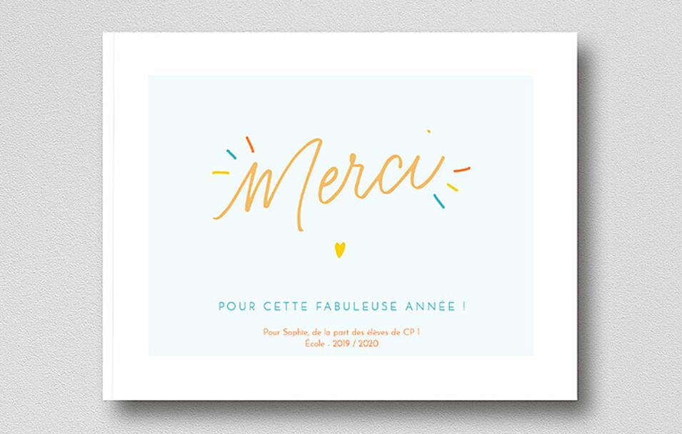 album photo merci maitresse rosemood calligraphique