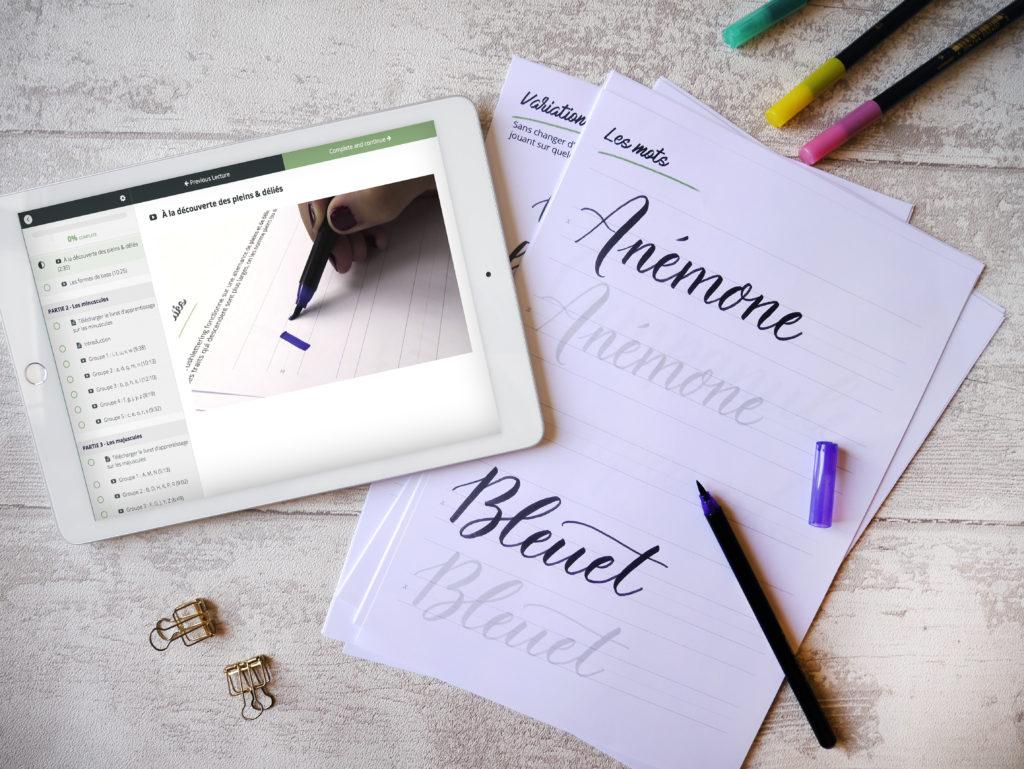 Apprendre le brush lettering en ligne
